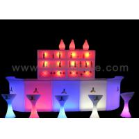 Wholesale Straight Design Portable Bar Table with Colorful RGB LED Lights from china suppliers