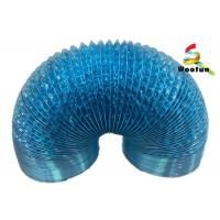 Quality Ventilation application single or double layer aluminum foil and polyester blue flexible duct for sale