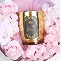 Wholesale Gold Glass Jar Room Scented Candles Electroplated Luxury Scented Candle from china suppliers