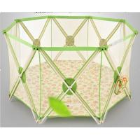 Wholesale One Band Fold Green Large Baby Playpen Fence With Durable Fabric from china suppliers