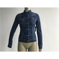 China Customized Embroidered Jean Jacket , Ladies Stretch Denim Jacket TW78599 for sale