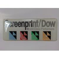Wholesale Self Adhesive Embossed Pu Dome Customized Name Plates With CMYK / Silk Printing from china suppliers