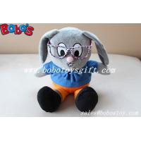 Wholesale Stuffed Rabbit Toy Customized Made Mr Rabbit Toy With Glass from china suppliers