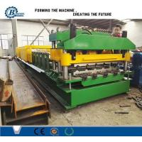 Wholesale 18 Stands Color Coated Steel Step Roof Panel Roll Forming Machine For Building from china suppliers