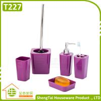 Quality Bathroom Set Supplier Modern Fashion Colorful 5 Pcs Bathroom Product For Decor for sale