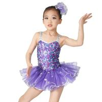China Sequins Hem Tires Dress Girls Dance Costume Dresses Holograms Sequins Sweetheart Top With Sequins Straps on sale
