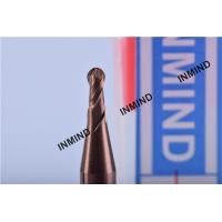 R1.0  R2.0 Ball Nose End Mill , 2 Flute ,  Grain Size 0.6UM , TiSiN Coating  2mm to 4mm , Copper Colour
