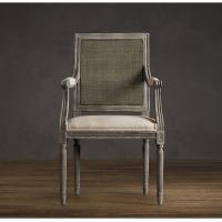 Wholesale Solid Wood Oak floral fabric dining chairs / Comfortable dining room chairs from china suppliers