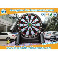 Wholesale Single Dart Board Commercial Inflatable Football Games For Kids 4mH from china suppliers