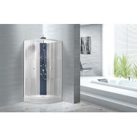 Wholesale Popular White ABS Tray Corner Shower Stalls , Circle Quadrant Shower Cabin from china suppliers