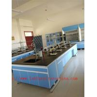 Wholesale 3750 mm  Wood Frame Blue /  White Science Lab Cabinets  Furniture For High School Lab from china suppliers