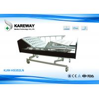 Wholesale Three Cranks Manual Hospital Bed , Convenient Home Care Bed Lift Fall Flexibly from china suppliers
