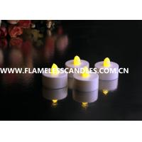 Wholesale White Body flameless LED Tealight Candles , Plastic LED Candles Set for Christmas or Event from china suppliers