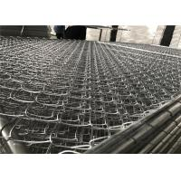 "Wholesale 8'x12' chain link fence panels 1⅝""(42mm) chain mesh 50mm x 50mm diameter 11.5ga/2.75mm hot dipped galvanized 366gram/sqm from china suppliers"