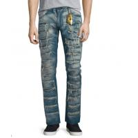 Wholesale Damaged Wash Mens Super Skinny Jeans Ripped Crush Anti - Pilling Quick Dry from china suppliers