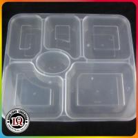Quality High quality Chinese Disposable Six-compartments PP Plastic Food Container Lunch box with Lids for sale