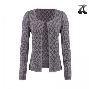 Simple Womens Shrug Sweater Soft Feel Jacquard Knitting Patterns Lurex Viscose