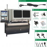 Quality Full Automatic Power Cable Making 3 pins Plug Cutting Color Detection Crimping One Line Machine for sale