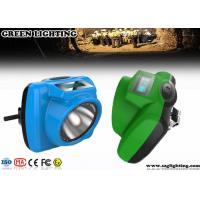 Wholesale IP68 1W Miners Head Torch, 5.2Ah 13000 Lux PC Helmet LampWith OLED Screen from china suppliers