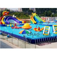 Wholesale Digital Printing 12 X 8m Rainbow Slide Inflatable Water Games With CE Blower from china suppliers