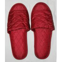 Wholesale Red or grey cotton, waffle and non woven Embroidered or Printing Logo Hotel Slipper from china suppliers