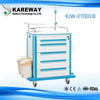 Quality Portable Durable Medical Trolley Cart Easy Cleaning For Emergency Drug Transportation for sale
