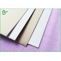 Wholesale 300 gsm thick 787x1092mm in big sheet coated duplex board  with white and grey back from china suppliers