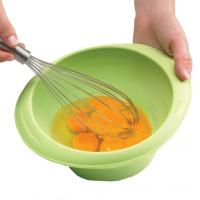 Quality cheap silicone egg whisk ,silicone egg beater with handle for sale