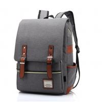 Wholesale Grey Canvas Large Mountain Fashionable Backpacks For Man Woman from china suppliers