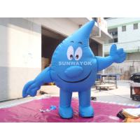 Wholesale Water Drop Advertising Costumes , Light Weight inflatable mascot suit from china suppliers