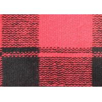 Wholesale Drop Needle Acquard Knitted Check Wool Fabric Red Curry Rice Blank Squares from china suppliers
