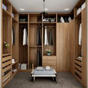 Wholesale U Shaped Built In / Walk In Closet Organizers Italian Design Blum Soft Close Slider from china suppliers