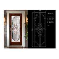 Wholesale Classical Thermal / Sound Insulation Door Art Glass Sheets With Black Chrome from china suppliers