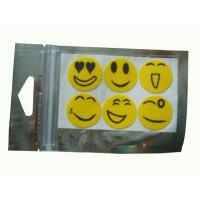 Wholesale 100% eco-friendly and Safe Yellow mosquito repellent sticker, smiling face anti mosquito repellent from china suppliers