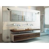 Wholesale Wall Mounted Style Double Sink Bathroom Vanity Cabinets With Wood Veneer Door Panel from china suppliers