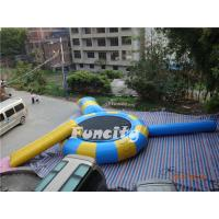 Wholesale 0.9MM Thickness PVC Tarpaulin inflatable water trampoline combo from china suppliers