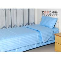 Wholesale 100% Cotton Plain Stripe Hospital Bed Sheet White / Blue / Pink Color from china suppliers