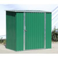 Wholesale  Single Swing Door 6x4 ft With Easy Assemble DIY Metal Shed , Metal Garden Shed Small Green from china suppliers