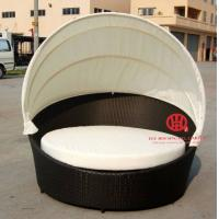 Quality Garden leisure rattan round sofa bed for sale