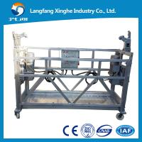 Wholesale zlp630/800 aluminum suspended platform / roof suspension / gondola platform  with ltd hoist from china suppliers