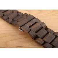 Wholesale Ultra Thin Handmade Wood Accessories Black Sandal Apple Band For Smart Watch from china suppliers