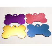 Quality Custom Metal Hang Tags Die Casting , Anodized Aluminum Dog Tags Personalized for sale
