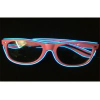 Wholesale Eco - friendly Night Club Promo El LED Glow Sunglasses With Electro Luminous Wire from china suppliers