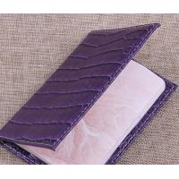 Alligator Pattern PU Travel Passport Holder