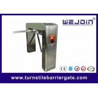Wholesale Stainless Steel Semi Auto Half Height Turnstile Barrier Gate / Entrance Gate Security Systems from china suppliers