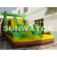 Wholesale OEM Green Antelope Plato TM Inflatable Obstacle Course With bounce slides rentals from china suppliers