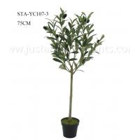 Wholesale 75CM Artificial Olive Tree In Plastic Pot , Faux Olive Plant For Decoration And Design from china suppliers