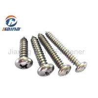 China AISI 304 Stainless Steel Self Tapping Screws , Sharp Point Pan Head Framing Screws on sale