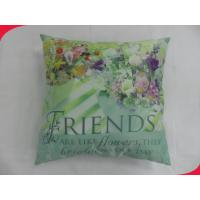 Wholesale 16 inch Square Cotton Brushed Polyester Decorative Pillow with Zipper from china suppliers