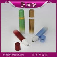 Wholesale SRS packaging no leakage plastic airless roll on bottle with press button for eye cream from china suppliers
